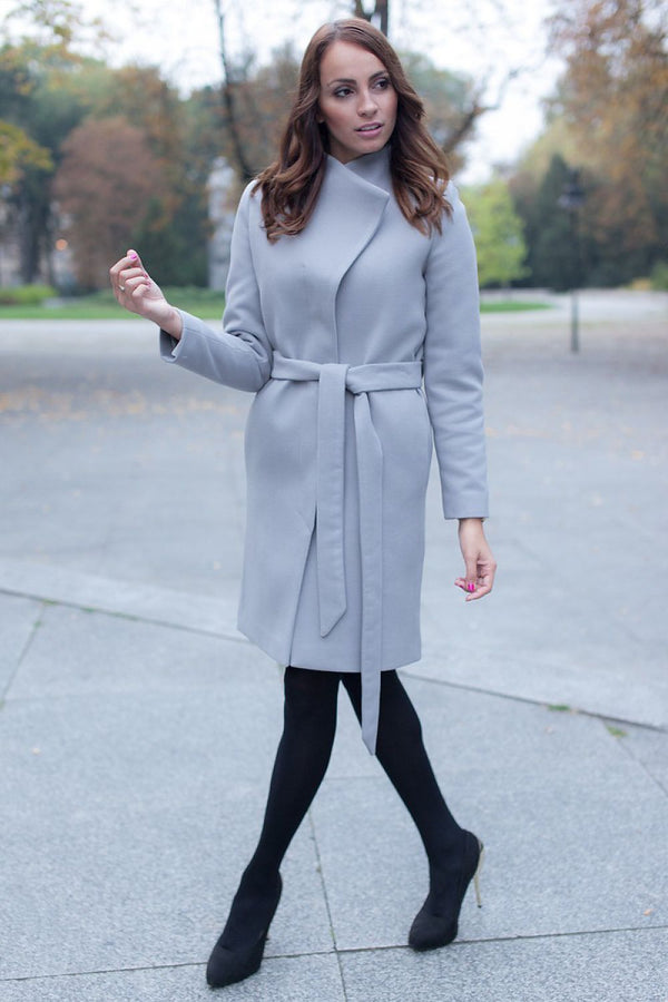 Chic Light Coat with Belt by Mattire