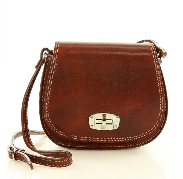 Vicenza Brown Leather Bags - Mazzini