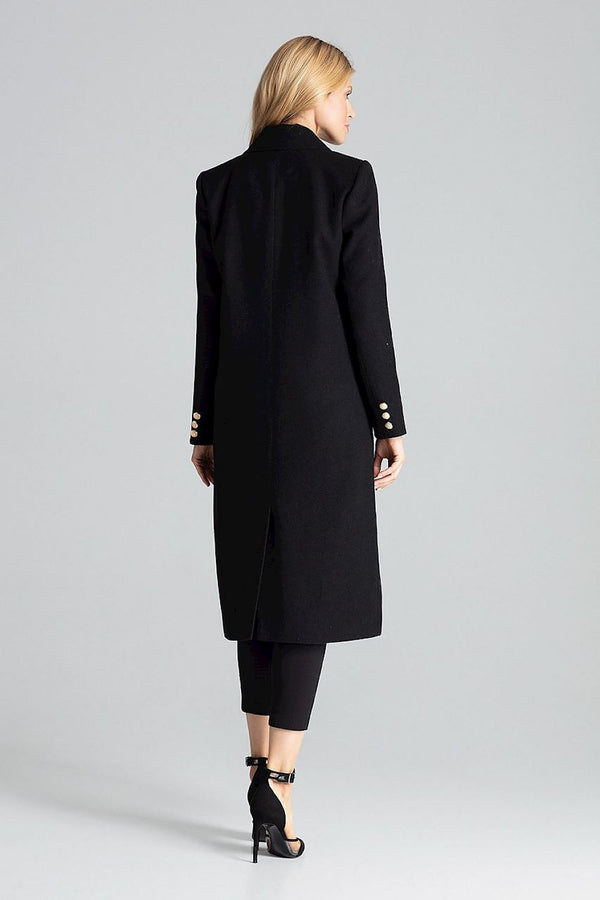 FIGL Double-Breasted Long Coat