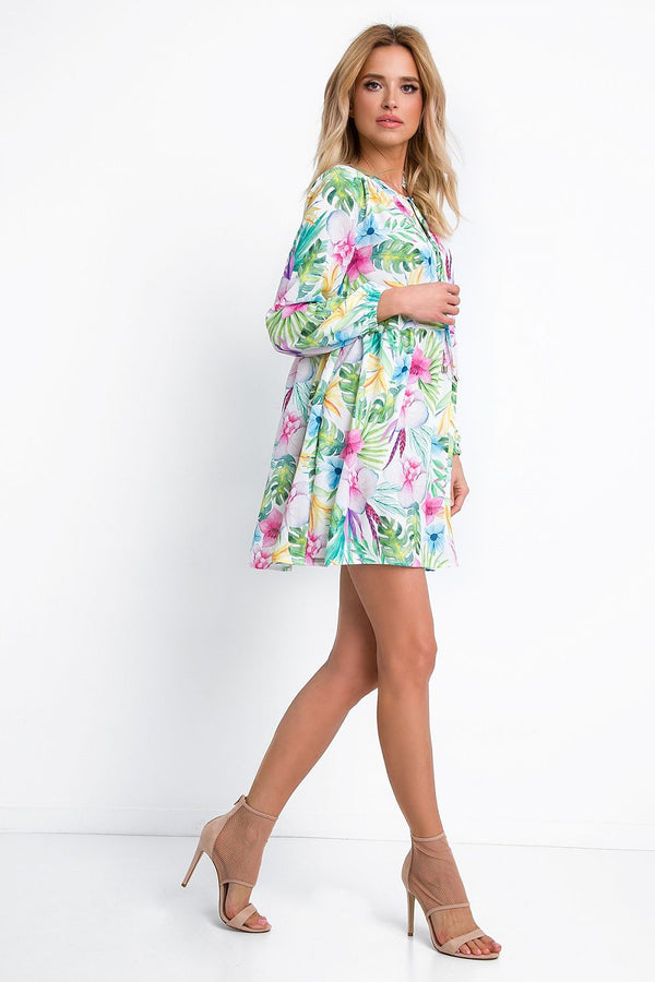 Tropical Mini Dress - Fobya