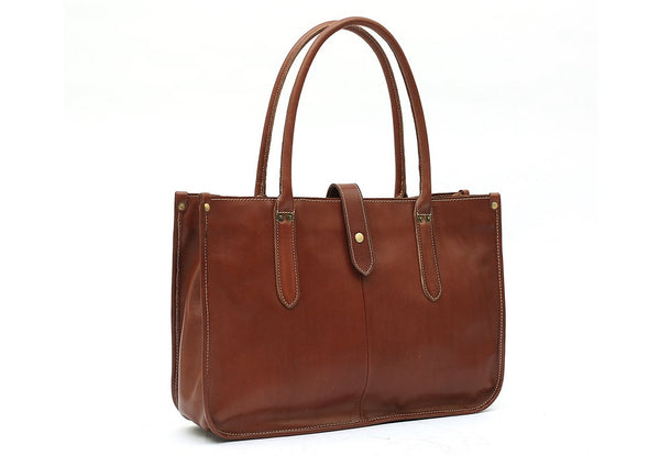 Jan Full Grain Leather Tote Bag