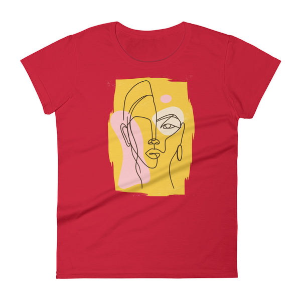 Abstract Yellow Lady T-Shirt