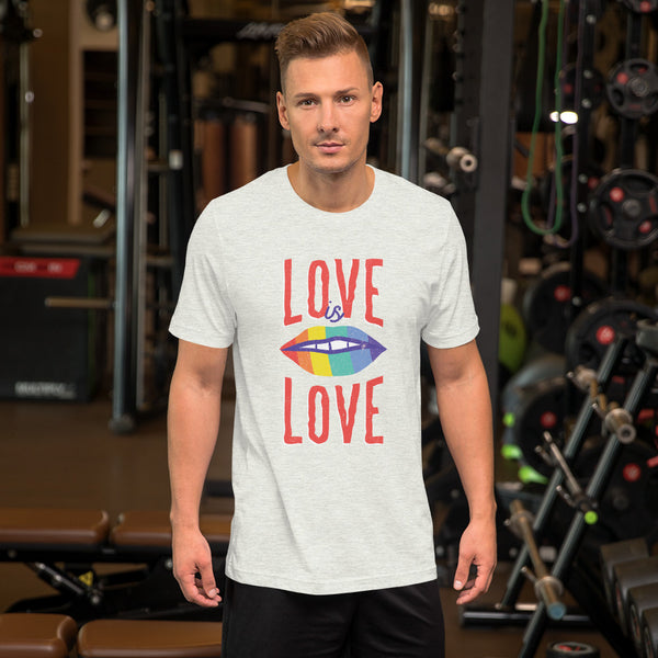 Men's Love is Love Bold Tee - KiS and Plush