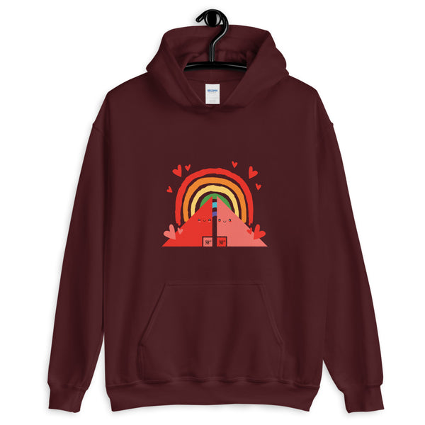 Double Triangle Rainbow Classic Hoodie - KiS and Plush