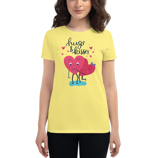 Hugs Kisses Women's short sleeve t-shirt - KiS and Plush