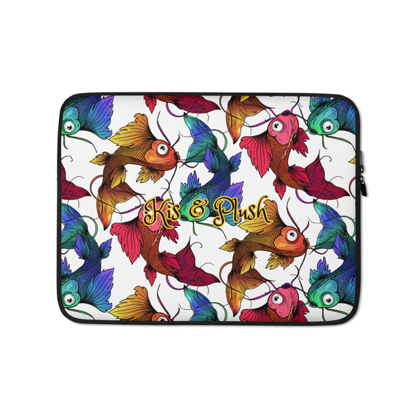 Koi Fish Protest Laptop and Tablet Sleeve - KiS and Plush
