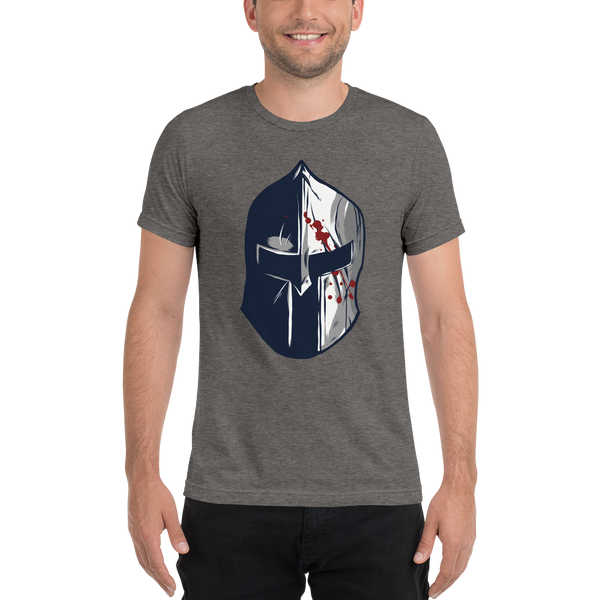 Spartan Helmet Short sleeve t-shirt - KiS and Plush