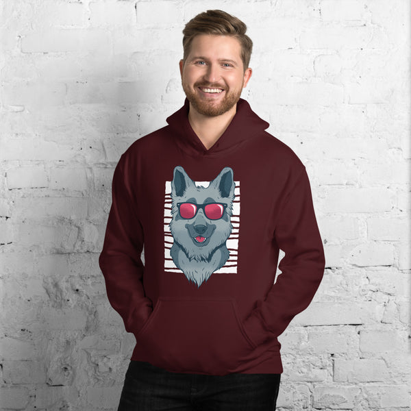 Men's Cool German Shepherd Hoodie - KiS and Plush