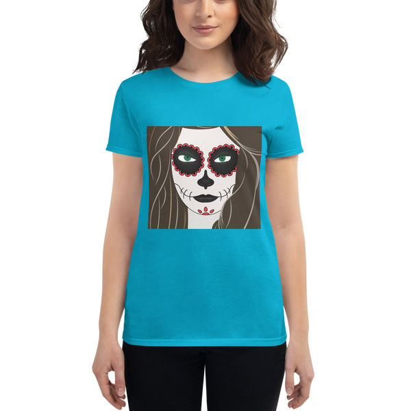 Halloween Girl Makeup Women's short sleeve t-shirt - KiS and Plush