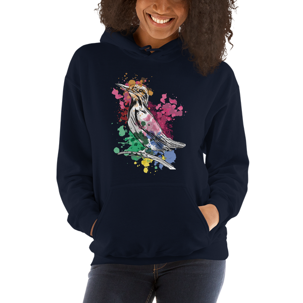 Watercolor Kingfisher Unisex Hoodie - KiS and Plush