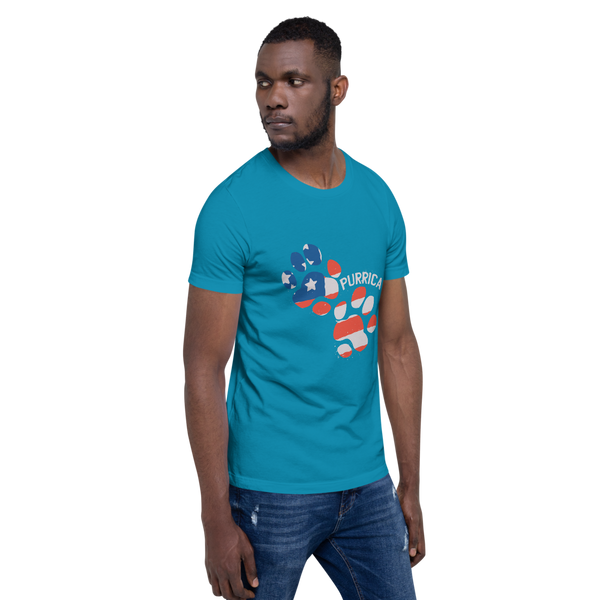 Purrica Footprint Short-Sleeve Unisex T-Shirt - KiS and Plush