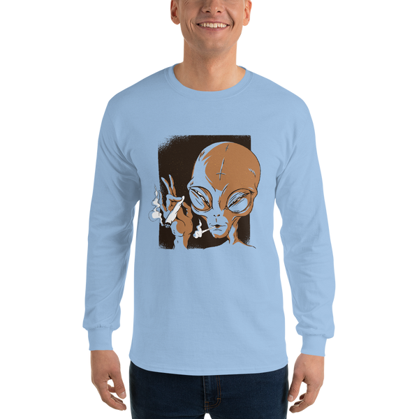 Alien Smoking Long Sleeve T-Shirt - KiS and Plush