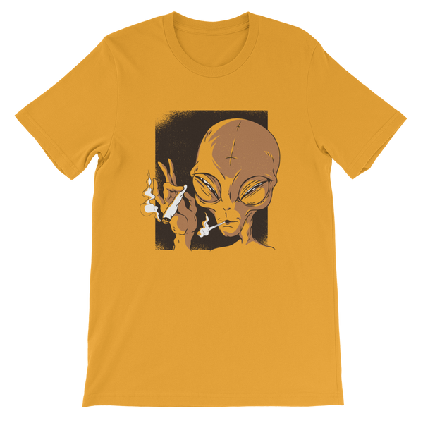 Alien Smoking Short-Sleeve Unisex T-Shirt - KiS and Plush