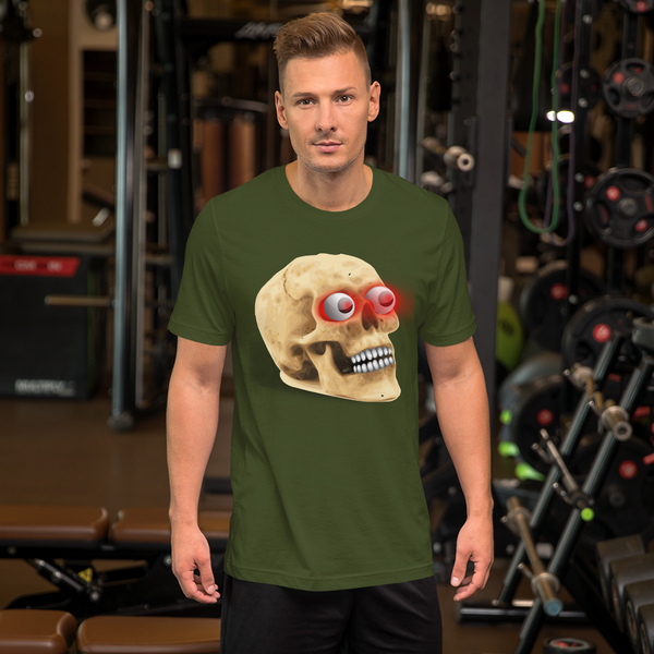 Skull Glowing Eyes Death Glow Short-Sleeve T-Shirt - KiS and Plush