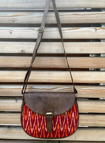 flap crossbody handbag in Ikat pattern (++ color options)