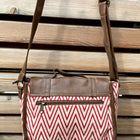 rectangle bag in large triangle wave pattern