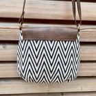 piccolino flap crossbody handbag in wave pattern