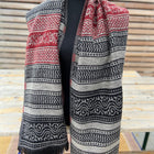 boho shawl (reversible) - wave strips