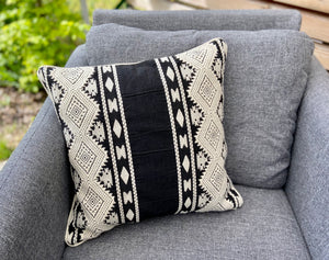 Cushion Cover-Aztec pattern1 in black and white