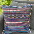 Cushion Cover-border stripes pattern1 in blue