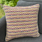 Cushion Cover-large triangle pattern in cream/multicolors