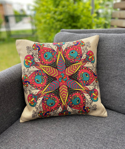 Cushion Cover-peacock pattern