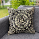 Cushion Cover-Mandala5 in black and white