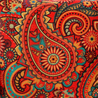 Cushion Cover-paisley pattern in red