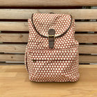 backpack red polka dots