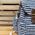 backpack blue triangle