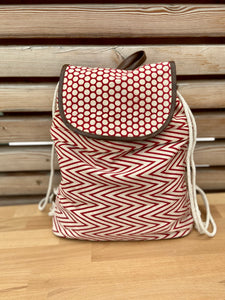 backpack slingbag polka dots and triangle pattern (++ color options)