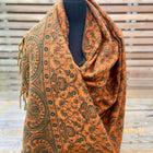 Tusha boho shawl (reversible in jaal pattern)-3