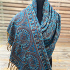Tusha boho shawl (reversible in jaal pattern)-5