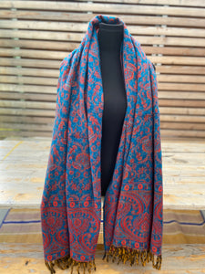 Tusha boho shawl (reversible in jaal pattern)-7