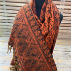 Tusha boho shawl (reversible in jaal pattern)-6