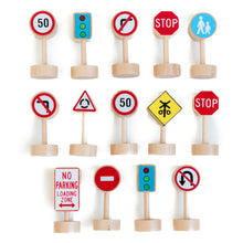 Load image into Gallery viewer, Wooden Traffic Signs Set