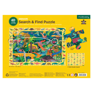 Mudpuppy 64 Piece Search and Find Puzzle - Dinosaurs