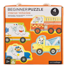 Load image into Gallery viewer, Petit Collage Beginner Puzzle - Rescue Vehicles