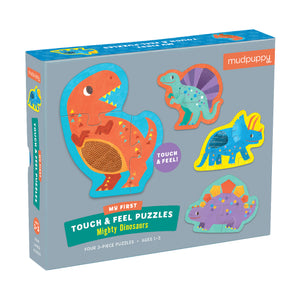 Mudpuppy Touch & Feel Puzzle - Mighty Dinosaurs