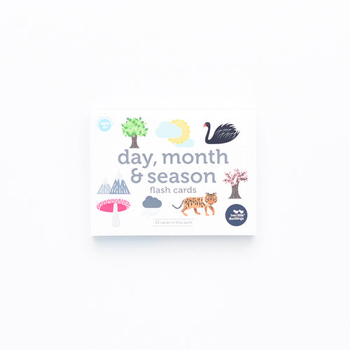 Two Little Ducklings - Days, Months and Season Flash Cards