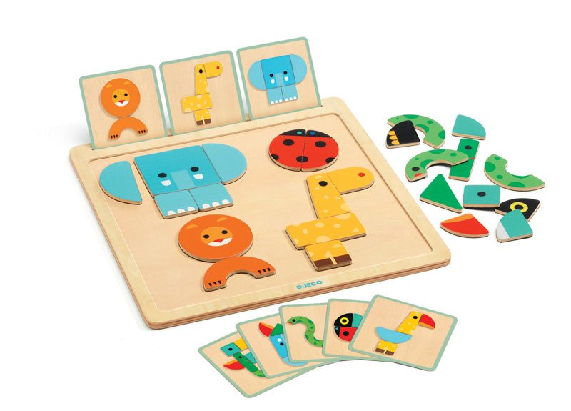 Geo Basic Magnetic Wooden Board - Djeco