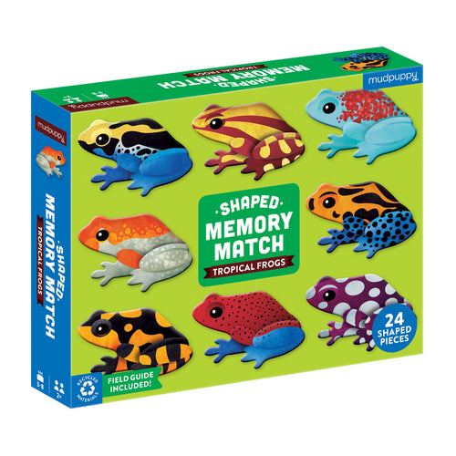 Mudpuppy Memory Match Shaped – Frogs