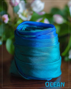 Sarah's Silks Enchanted Earth Playsilks - Ocean