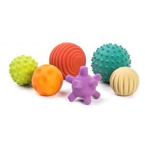 Miniland Aptitude Eco Sensory Natural Rubber Balls, 6 pcs