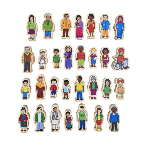 My Family - Wooden People