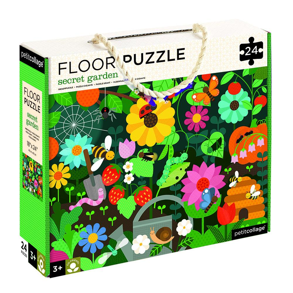 Petit Collage Floor Puzzle - Secret Garden