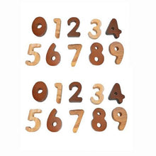Load image into Gallery viewer, Wooden 2 Tone Number Set