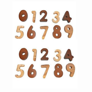 Wooden 2 Tone Number Set