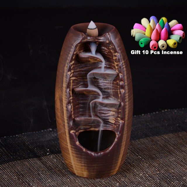 Waterfall Incense Burner Ceramic Incense Holder