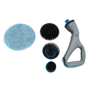 Cordless Hurricane Muscle Scrubber 4pcs Electric Cleaning Brush